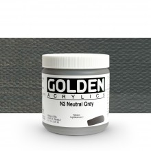 Golden : Heavy Body : Acrylic Paint : 236ml : Neutral Grey No.3