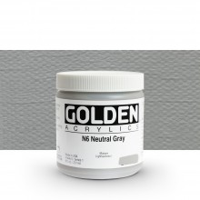 Golden : Heavy Body Acrylic Paint : 236ml : Neutral Grey No.6