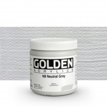 Golden : Heavy Body : Acrylic Paint : 236ml : Neutral Grey No.8
