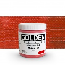 Golden : Heavy Body Acrylic Paint : 236ml : Cadmium Red Medium Hue
