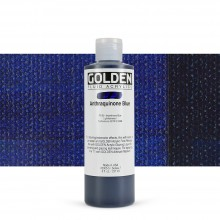 Golden : Fluid Acrylic Paint : 236ml (8oz) : Anthraquinone Blue