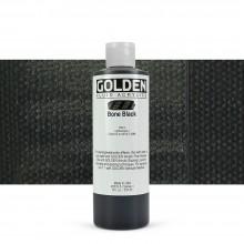 Golden : Fluid : Acrylic Paint : 236ml (8oz) : Bone Black