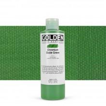 Golden : Fluid : Acrylic Paint : 236ml (8oz) : Chromium Oxide Green