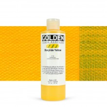 Golden : Fluid Acrylic Paint : 236ml (8oz) : Diarylide Yellow