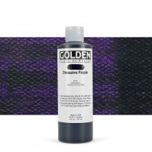 Golden : Fluid : Acrylic Paint : 236ml (8oz) : Dioxazine Purple