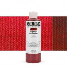 Golden : Fluid : Acrylic Paint : 236ml (8oz) : Naphthol Red Medium