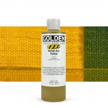 Golden : Fluid Acrylic Paint : 236ml (8oz) : Nickel Azo Yellow