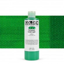 Golden : Fluid Acrylic Paint : 236ml (8oz) : Permanent Green Light
