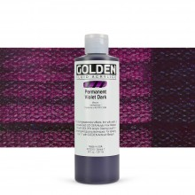 Golden : Fluid : Acrylic Paint : 236ml (8oz) : Permanent Violet Dark