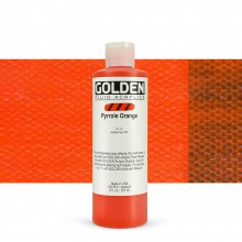 Golden : Fluid Acrylic Paint : 236ml (8oz) : Pyrrole Orange