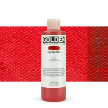 Golden : Fluid : Acrylic Paint : 236ml (8oz) : Pyrrole Red