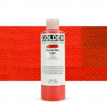 Golden : Fluid : Acrylic Paint : 236ml (8oz) : Pyrrole Red Light