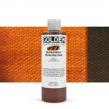 Golden : Fluid : Acrylic Paint : 236ml Fluid : Quinacridone / Nickel Azo Gold