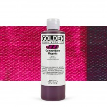 Golden : Fluid : Acrylic Paint : 236ml (8oz) : Quinacridone Magenta