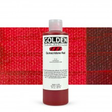 Golden : Fluid : Acrylic Paint : 236ml (8oz) : Quinacridone Red