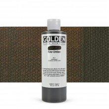 Golden : Fluid Acrylic Paint : 236ml (8oz) : Raw Umber