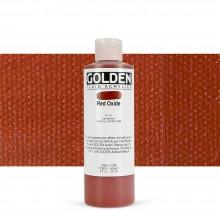 Golden : Fluid Acrylic Paint : 236ml (8oz) : Red Oxide