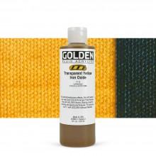Golden : Fluid : Acrylic Paint : 236ml (8oz) : Transparent Yellow Iron Oxide
