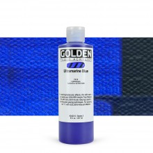 Golden : Fluid : Acrylic Paint : 236ml (8oz) : Ultramarine Blue