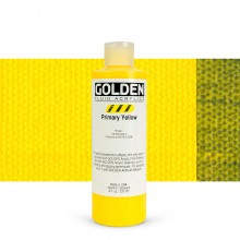 Golden : Fluid : Acrylic Paint : 236ml (8oz) : Primary Yellow