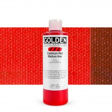 Golden : Fluid : Acrylic Paint : 236ml (8oz) : Cadmium Red Medium Hue