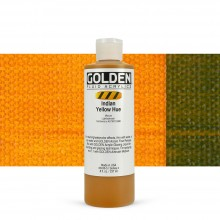 Golden : Fluid Acrylic Paint : 236ml (8oz) : Indian Yellow Hue