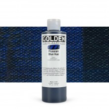 Golden : Fluid : Acrylic Paint : 236ml (8oz) : Prussian Blue Hue