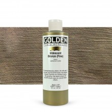 Golden : Fluid : Acrylic Paint : 236ml (8oz) : Bronze Fine Iridescent