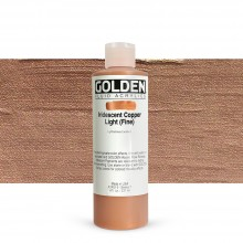 Golden : Fluid Acrylic Paint : 236ml (8oz) : Copper Light Fine Iridescent