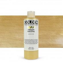 Golden : Fluid : Acrylic Paint : 236ml (8oz) : Gold Fine Iridescent