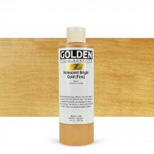 Golden : Fluid : Acrylic Paint : 236ml (8oz) : Bright Gold Fine Iridescent