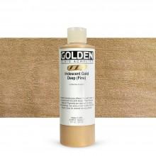 Golden : Fluid : Acrylic Paint : 236ml (8oz) : Gold Deep Fine Iridescent