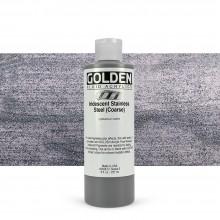 Golden : Fluid : Acrylic Paint : 236ml (8oz) : Stainless Steel Coarse Iridescent