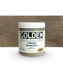Golden : Heavy Body Acrylic Paint : 236ml : Bronze Fine Iridescent