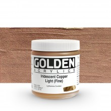 Golden : Heavy Body Acrylic Paint : 236ml : Copper Light Fine Iridescent
