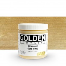 Golden : Heavy Body Acrylic Paint : 236ml : Gold Fine Iridescent