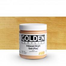 Golden : Heavy Body : Acrylic Paint : 236ml : Bright Gold Fine Iridescent