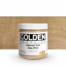 Golden : Heavy Body Acrylic Paint : 236ml : Gold Deep Fine Iridescent