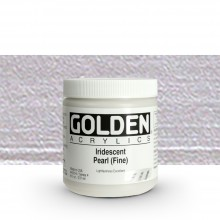 Golden : Heavy Body Acrylic Paint : 236ml : Pearl Fine Iridescent
