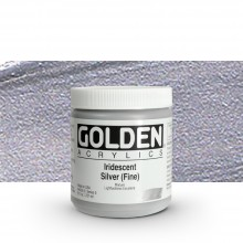 Golden : Heavy Body Acrylic Paint : 236ml : Silver Fine Iridescent