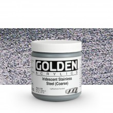 Golden : Heavy Body Acrylic Paint : 236ml : Stainless Steel Coarse Iridescent