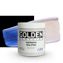 Golden : Heavy Body Acrylic Paint : 236ml : Blue Fine Interference