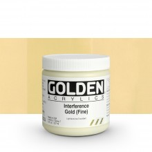 Golden : Heavy Body : Acrylic Paint : 236ml : Gold Fine Interference