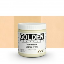 GOLDEN : HEAVY BODY ACRYLIC PAINT : 236ML : ORANGE FINE INTERFERENCE