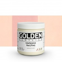 Golden : Heavy Body Acrylic Paint : 236ml : Red Fine Interference
