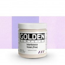 GOLDEN : HEAVY BODY ACRYLIC PAINT : 236ML : VIOLET FINE INTERFERENCE