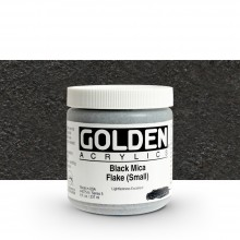 Golden : Heavy Body Acrylic Paint : 236ml : Black Mica Flake Small Iridescent