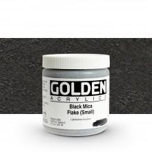 Golden : Heavy Body Acrylic Paint : 236ml : Black Mica Flake Small Iridescent