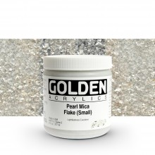 Golden : Heavy Body Acrylic Paint : 236ml : Pearl Mica Flake Small Iridescent