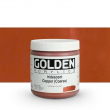 Golden : Heavy Body Acrylic Paint : 236ml : Copper Coarse Iridescent